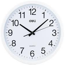 office wall clocks large. Get Quotations · Deli Office Mute Scanning Clock Wall Simple Fashion 9006 37cm Diameter Circular Clocks Large