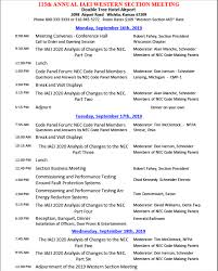 Program Iaei Western Section