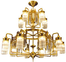 Liberty Styl Crystal Glass Chandelier Trentino Casa Lumi