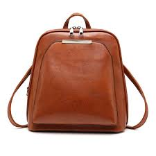 elegant vintage oil wax leather backpack for women small travel casual shoulder school bags luxury leather laptop bag ogio backpack rucksacks from tills