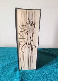 horse face book folding pattern cut fold book 537 pages