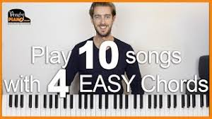 easy songs with 4 s on piano