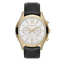 michael kors watch men s mk8308 pink orchard luxury brands online michael kors men s brookton black leather chronograph watch