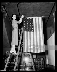 Proper way to display flag, 19 June 1952. A Byron Perkins ;Paul Cosko...  News Photo - Getty Images