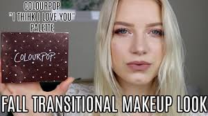transitional fall makeup tutorial colourpop i think i love you palette kendracus