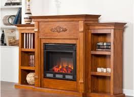 sei sei tennyson electric fireplace w bookcases glazed