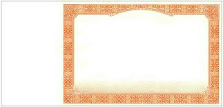 blank certificates blank stock certificates border only certificates