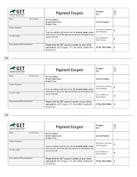 best photos of payment coupon template for word loan payment loan payment coupon template