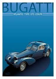 Original vintage 1984 bugatti art deco bugatti monaco poster | etsy. Bugatti Type 57s Atlantic Art Print Simply Petrol