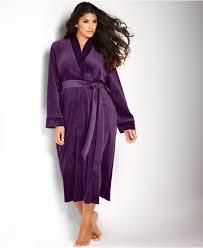 plus size robes lyst jones new york plus size steamed velour velvet nights robe in