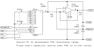 make your own instrumented glove here for a picture of the multiplexer schematic