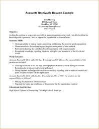 Plain Accounts Receivable Resume Templates With Objective Summary ...