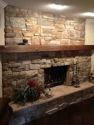 stone fireplace redo traditional living room
