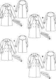 Trench Coat Pattern Impressive Gabardine Trenchcoat 4848 48B Sewing Patterns BurdaStyle