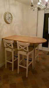 ikea breakfast bar table and 4 chairs