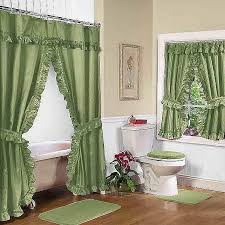 shower curtain and window valance set fresh bathroom window shower curtain sets