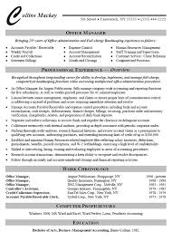 sample resume for office manager position office administrator resume example