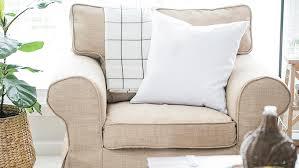 ikea armchair covers rp 1 seater kino khaki heavy duty couch slipcover