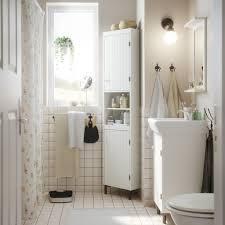 bathroom furniture ikea. Wonderful Ikea A Small White Bathroom With A Corner Cabinet Washbasin Cabinet And  Mirror In Bathroom Furniture Ikea