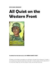 all quiet on the western front full text erich maria remarque all quiet on the western front translated from the german by a w wheen
