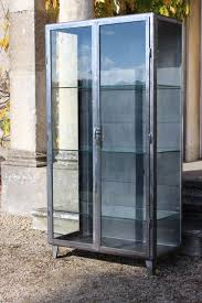 Metal Glass Display Cabinet 1950s Polished Steel And Glass Display Cabinet Bookcases