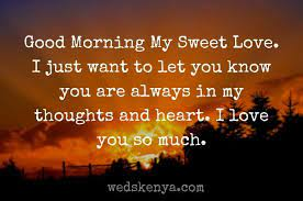 100 good morning messages for love