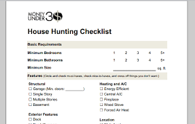 Sample College Checklist Cool Home Buying Checklist
