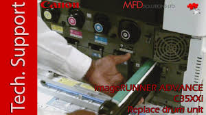 How to replace <b>drum unit</b> on <b>Canon</b> iR ADV C3500i - MFD Solutions ...