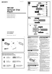 sony cdx m8800 fm am compact disc player installation connections instructions