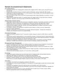 sample resume accomplishments