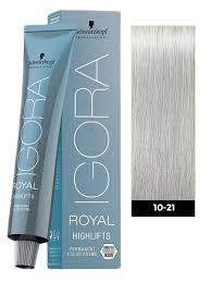 Igora Color Chart Schwarzkopf Igora Royal Highlifts 10 21 Ultra Blonde Cendre Beige