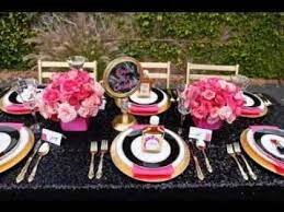 diy pink and black wedding party ideas