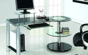 full size of homebase black glass corner desk office desks top goods spaces contemporary protector table