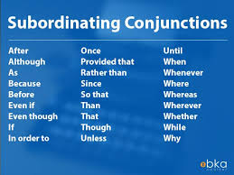 What Are Subordinating Conjunctions