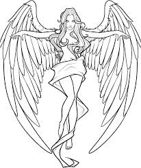 Angel Coloring Page 488websitedesigncom