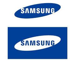 samsung logo. simple samsung logo design vector