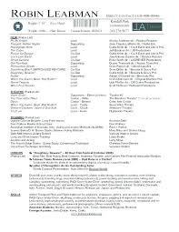 Example Acting Resume Actors Resume Sample Actor Resume Special ...