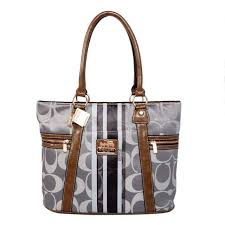 New Coach Zip In Signature Medium Grey Totes Bfi Sale UK L6nOO