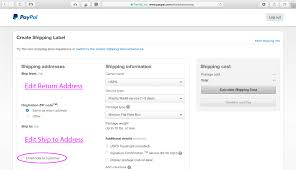 how to print a shipping label how to print a shipping label in paypal without an order