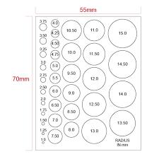 Microscope Stage Micrometer Calibration Film Ruler Circle Size Estimation Measurement Chart