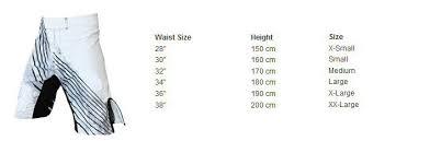 short size size chart