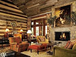 rustic family room ideas living industrial style fireplace brown wooden laminate additions rust family room