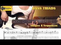 Bass Triad Arpeggios Lesson With Tab Shapes Major Minor
