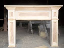 custom made paint grade fireplace mantel surround