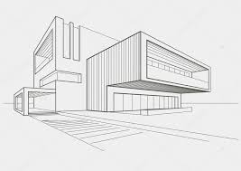 modern architecture sketch. Contemporary Sketch Linear Architectural Sketch Of Modern Building On Light Gray Background U2014  Vector By Tanok911 With Modern Architecture Sketch T
