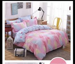 India feather bedding bed sets queen king twin kids 4/5 pcs quilt ... & India feather bedding bed sets queen king twin kids 4/5 pcs quilt romantic  pink Adamdwight.com