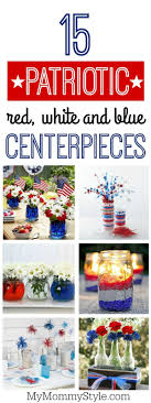 15 patriotic centerpieces ideas perfect for Memorial Day, 4th of July, Flag  Day or