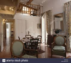 small loft furniture. Antique Chairs In Living And Dining Room Small Loft Conversion Apartment With Mezzanine Furniture