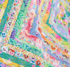 Win an Exclusive Kit We Uncovered From the Kaffe Fassett Archives ... & Save Kaffe Fasset ICe Cream Quilt Close Up Adamdwight.com