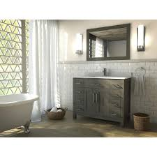 French Bathroom Tiles The Kent 42 Inch French Gray Finish Bathroom Vanity Is Maximum